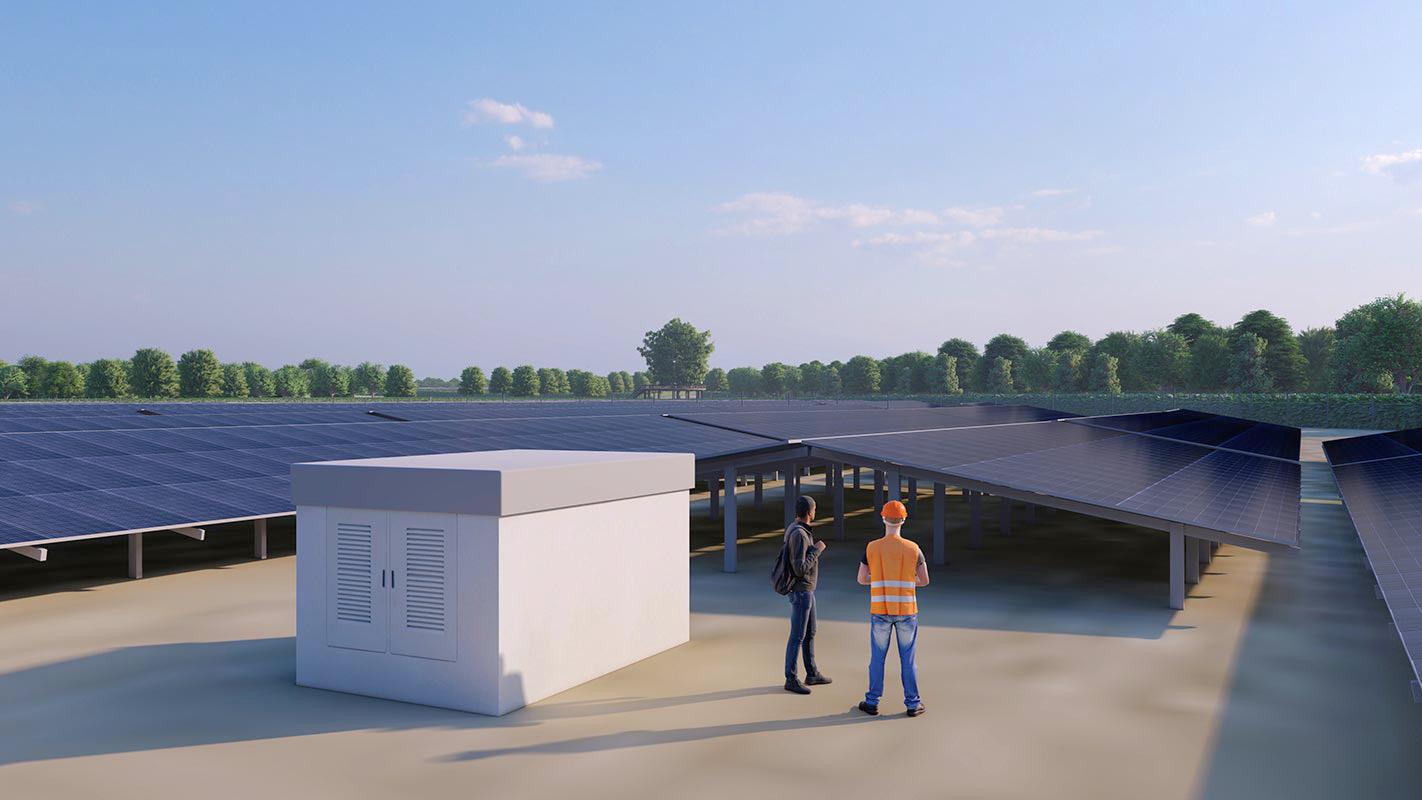 Solarpark - Trafostation